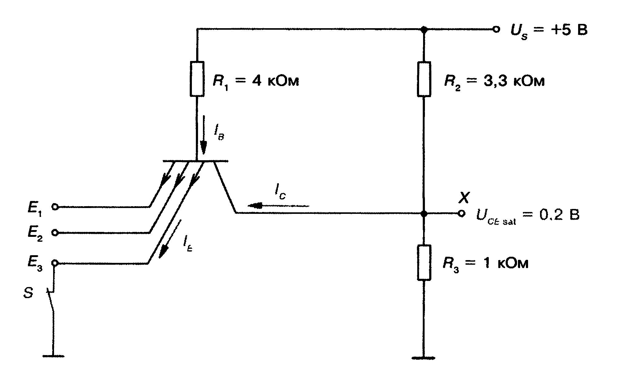схема транзисторная-логическая