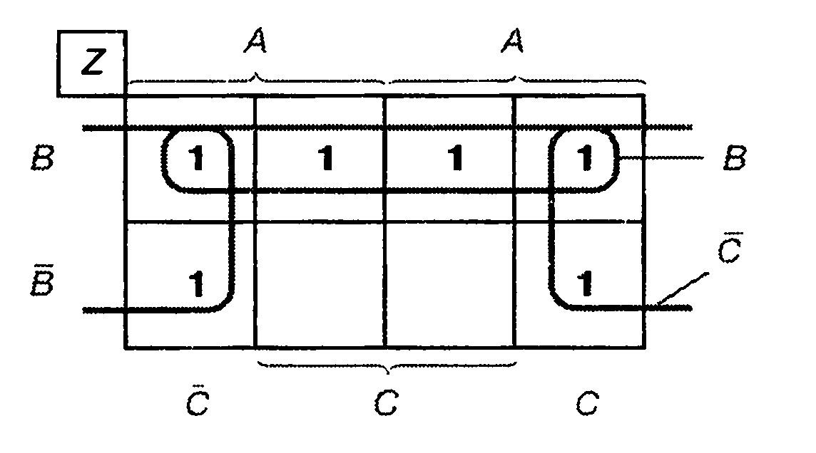 Карта Карно к примеру 3